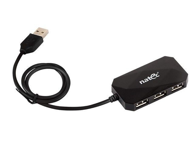 NATEC HUB USB 4-Port LOCUST USB 2.0, Czarny