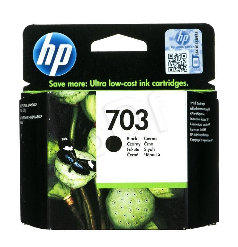 HP Tusz Czarny HP703=CD887AE 600 str. 4 ml