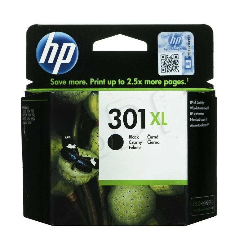 HP Tusz HP czarny HP 301XL HP301XL=CH563EE 480 str. 8 ml