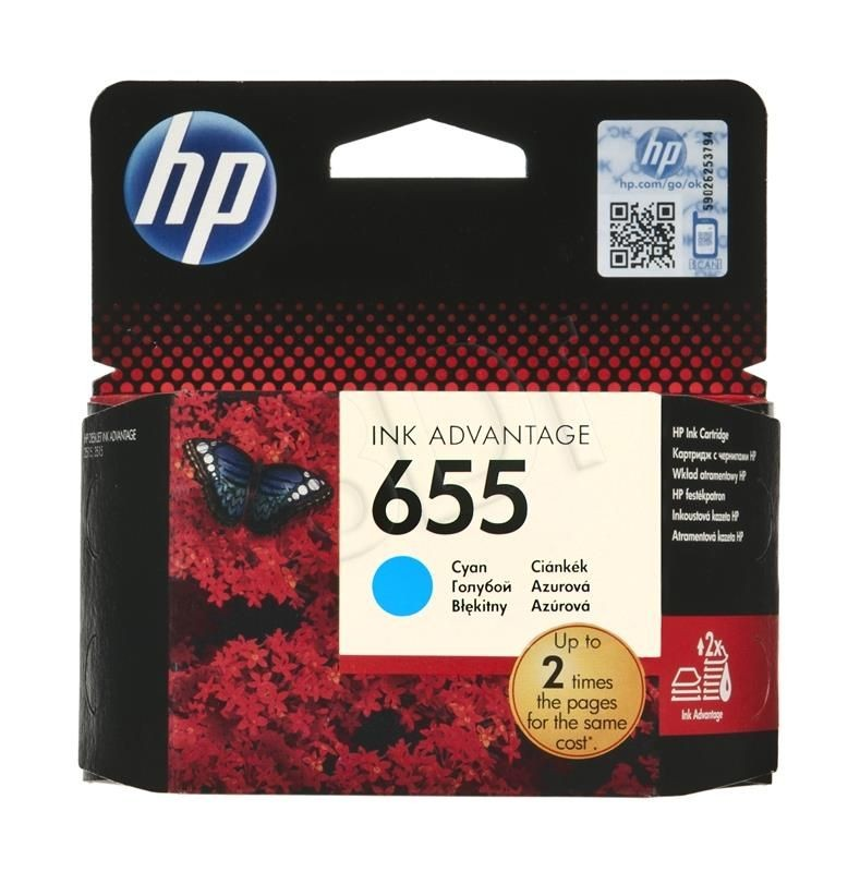 HP Tusz HP niebieski HP 655 HP655=CZ110AE 600 str.