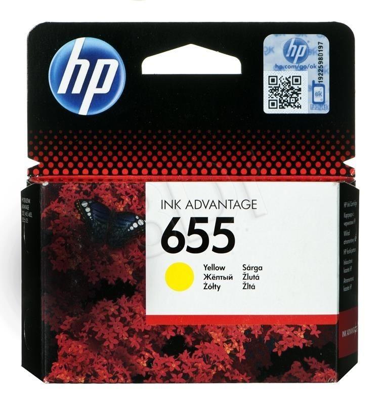 HP Tusz HP żółty HP 655 HP655=CZ112AE 600 str.