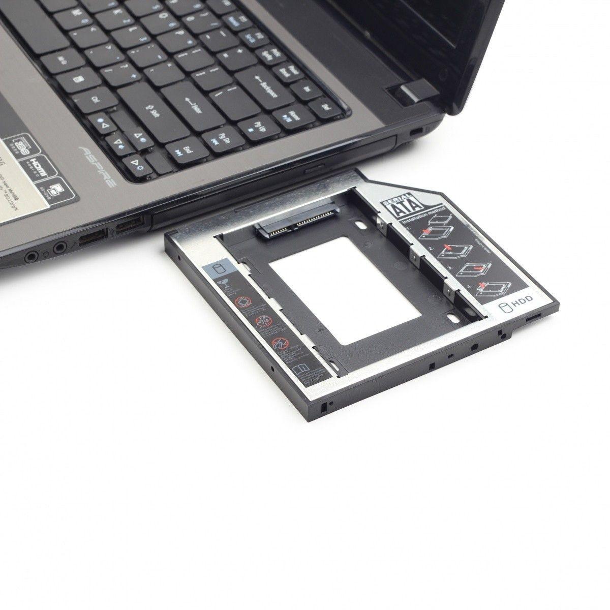 Gembird adapter/ramka HDD 5,25->2,5 slim (HDD/SSD w miejsce CD/DVD w laptopie)
