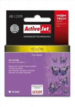 ActiveJet Tusz ActiveJet AB-123YR | Yellow | 14,5 ml | Brother LC123Y LC121Y