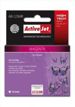 ActiveJet Tusz ActiveJet AB-123MR   Magenta   14,5 ml   Brother LC123M LC121M