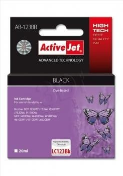ActiveJet Tusz ActiveJet AB-123BR | Czarny | 20 ml | Brother LC123Bk, LC121Bk