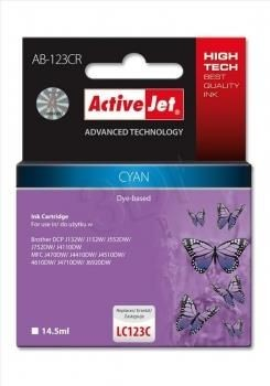 ActiveJet Tusz ActiveJet AB-123CR | Cyan | 14,5 ml | Brother LC123C, LC121C