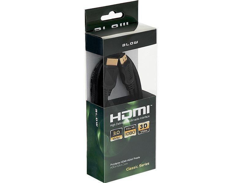 BLOW Przył.HDMI-HDMI CLASSIC proste 3m