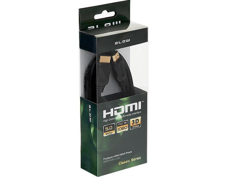 BLOW Przył.HDMI-HDMI CLASSIC proste 5m