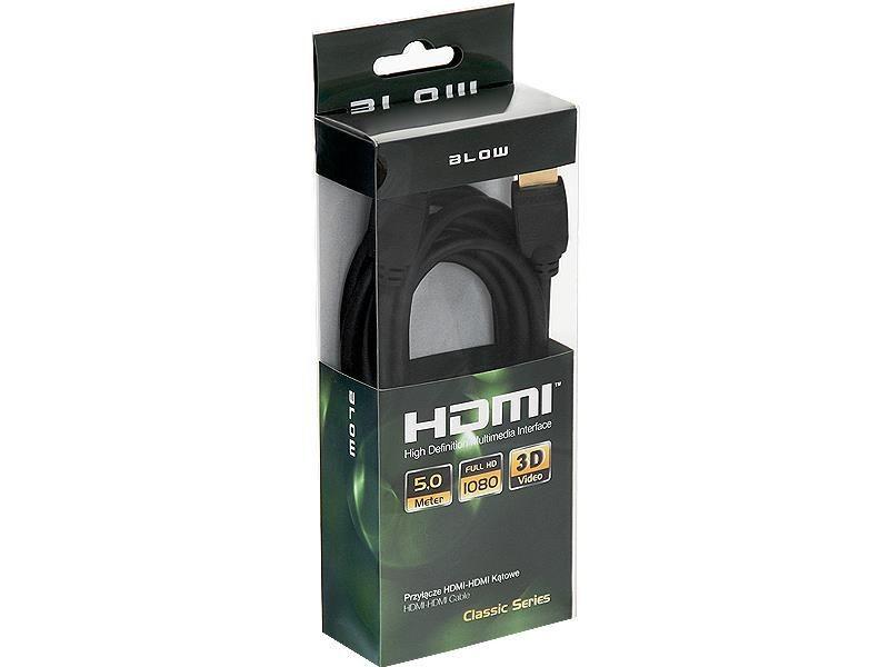 BLOW Przył.HDMI-HDMI CLASSIC kątowe 5m