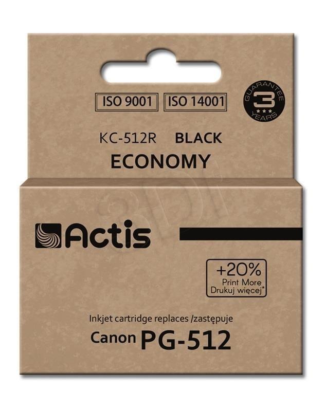 Actis Tusz Actis KC-512R (do drukarki Canon zamiennik PG-512 standard 15ml czarny)