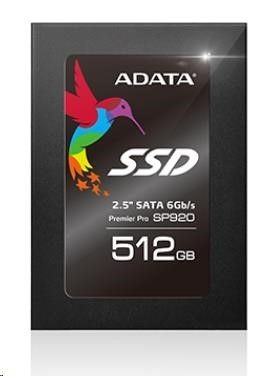 A-Data SSD SP920 512GB 2,5'' SATA3 (560/460MBs) 91K/77K IOPS / MARVELL / 7mm