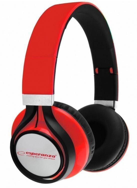 Esperanza EH159R FREESTYLE Słuchawki Audio Stereo z Regulacją Głośności | 2m