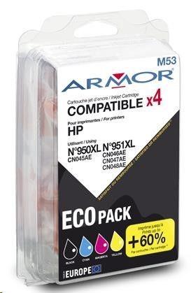Armor cartridge pro HP Officejet Pro 8100, 8600, 1B+1C+1M+1Y (C2P43AE/950XL/951XL)
