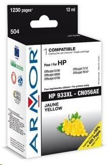 Armor cartridge pro HP Officejet 6100, 6600, Yellow (CN056AE)