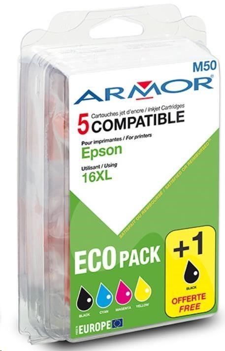 Armor cartridge pro EPSON WF2500/2010W, 2xBK+1C+1M+1Y (T163X)