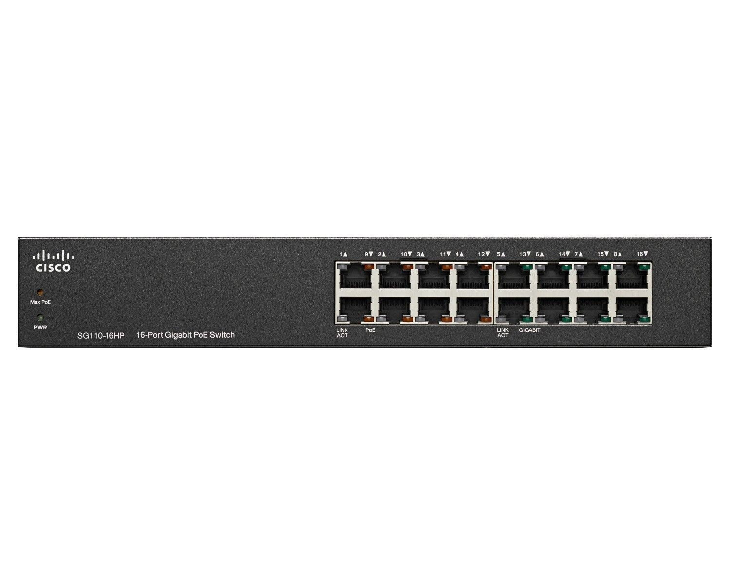 Cisco Systems Cisco SG110-16HP 16-Port PoE Gigabit Switch