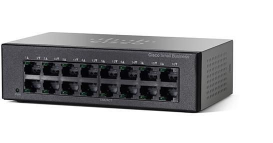 Cisco Systems Cisco SF110D-16HP 16-Port 10/100 PoE Desktop Switch