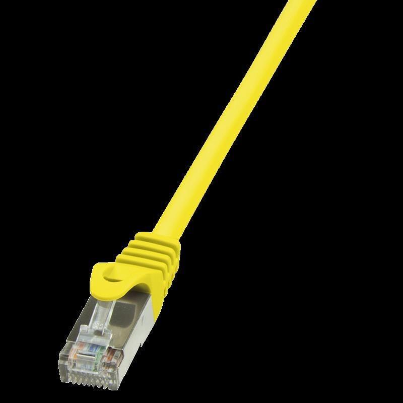 LogiLink Patchcord CAT 5e F/UTP 0,25m żółty