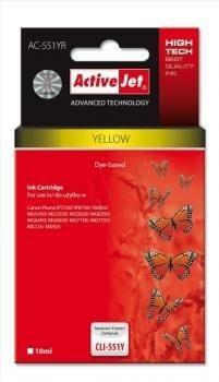 ActiveJet Tusz ActiveJet AC-551YR | Yellow | 10 ml | Canon CLI-551Y