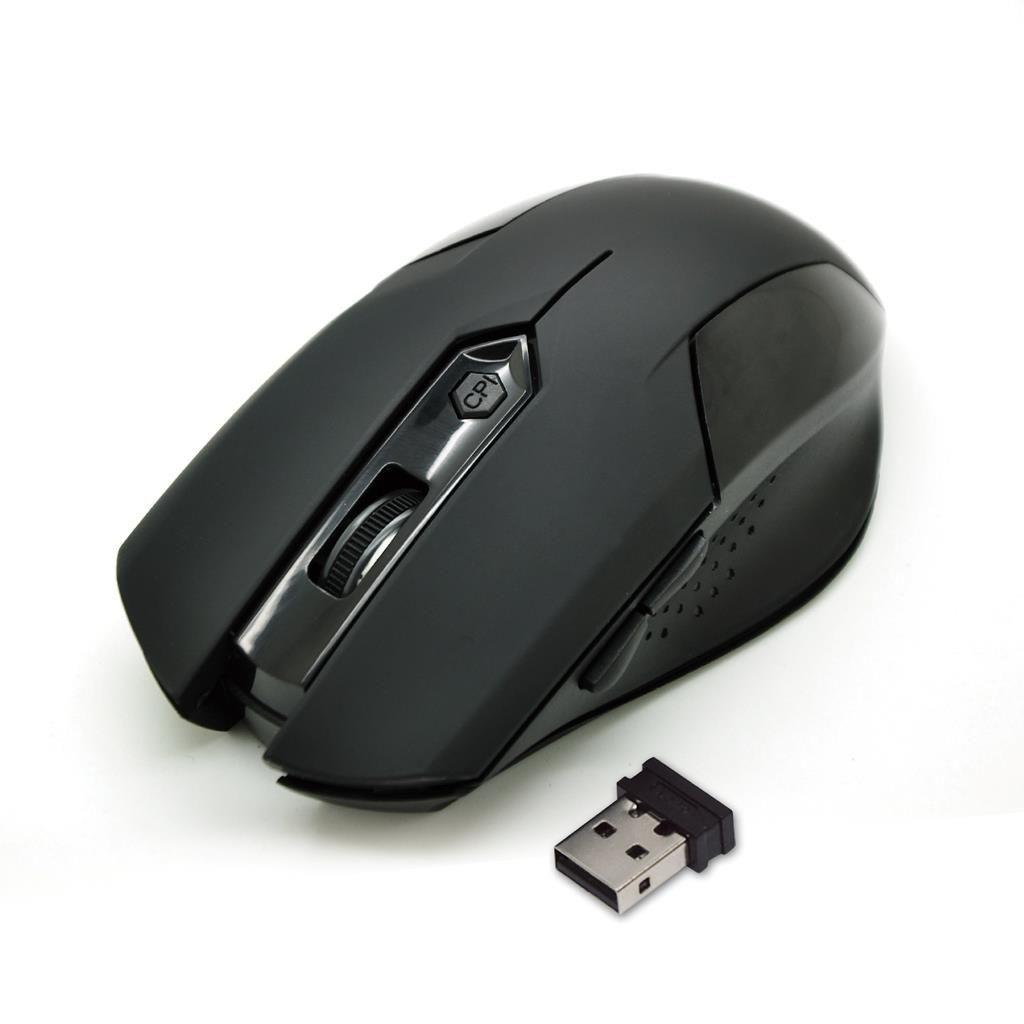 Vakoss Bezprzewodowa Mysz Optyczna TM-651UK 6D, 800/1200/1600DPI, 2.4GHz, czarna