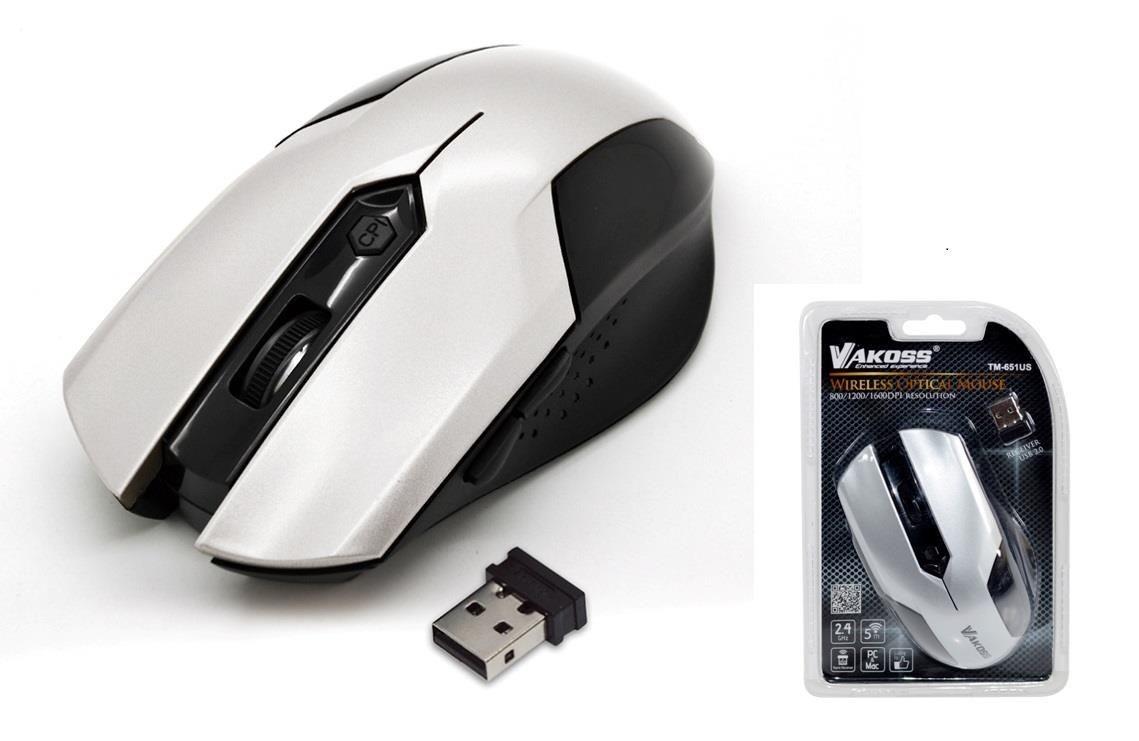 Vakoss Mysz Biała M-651US TM-651US