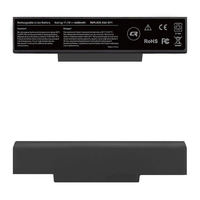 Qoltec Bateria do Asus A32-K72 K72 K72J K73SV N71, 4400mAh, 10.8-11.1V