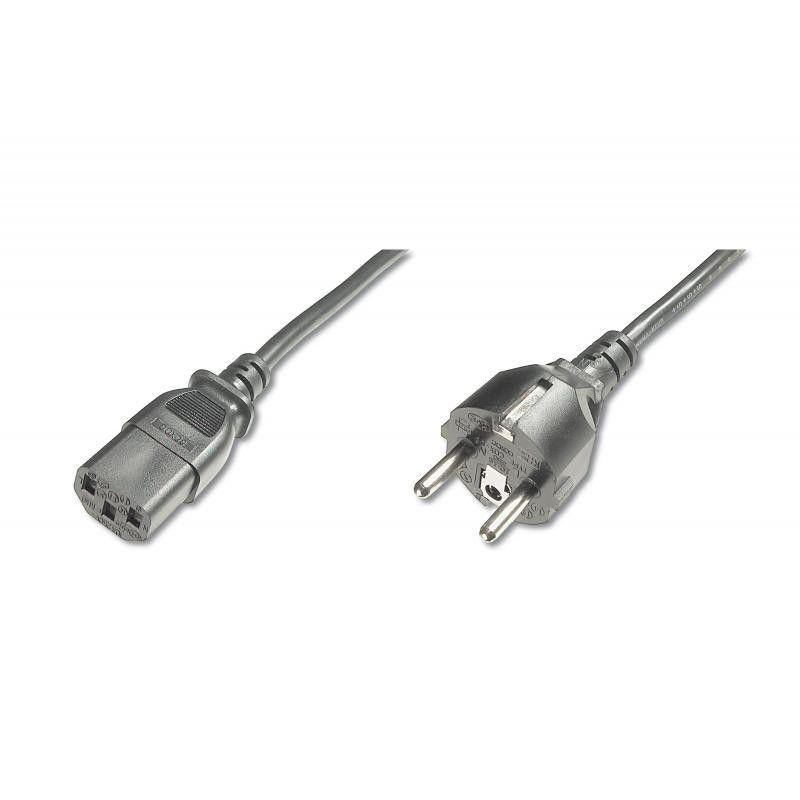 Assmann Kabel połączeniowy zasilający Typ Schuko prosty/IEC C13, M/Ż czarny 1,8m
