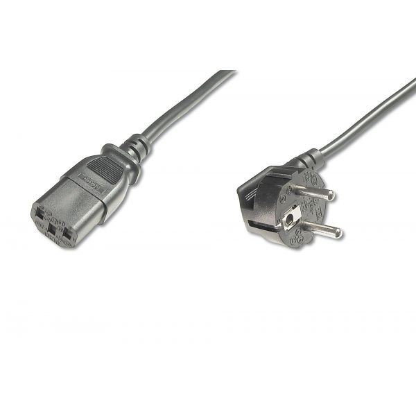 Assmann Kabel połączeniowy zasilający Typ Schuko kątowy/IEC C13, M/Ż czarny 5,0m