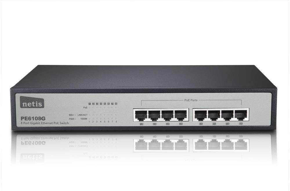 Netis Switch POE 19'' 8-port 1 GB (8 portów POE, 30W/Port, max 120W)