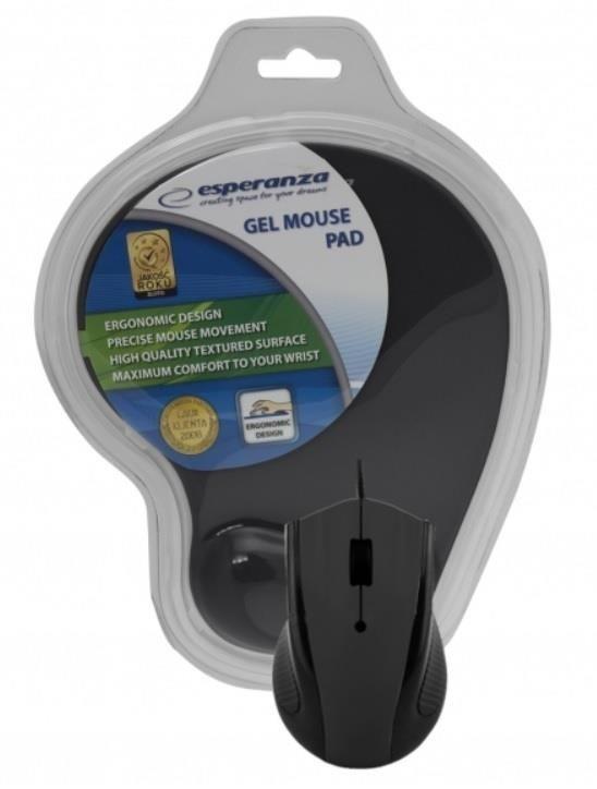Esperanza Przewodowa Mysz Optyczna EM125K USB | 1200 DPI + PODKŁADKA ŻELOWA
