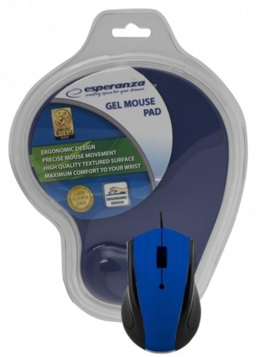 Esperanza Przewodowa Mysz Optyczna EM152B USB | 1200 DPI + PODKŁADKA ŻELOWA