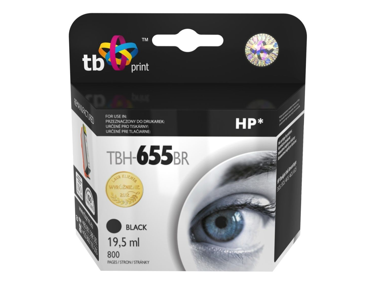 TB Print Tusz do HP DJ Advantage 3225 TBH-655BR BK ref.