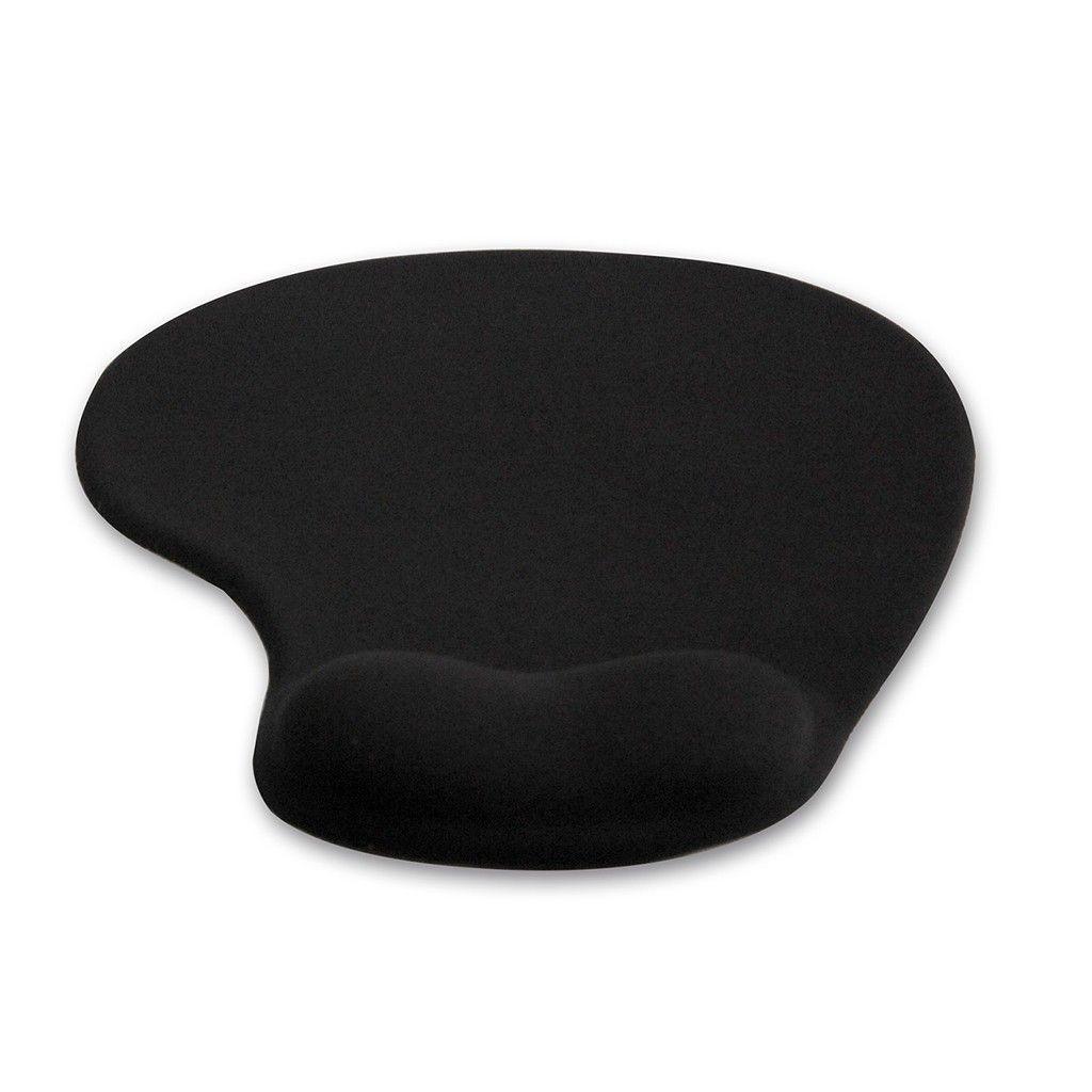4World Ergonomiczna podkładka pod mysz,żelowa, czarna