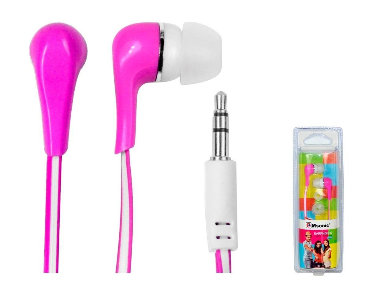 Vakoss MSONIC Słuchawki stereo douszne silikonowe MH132EP różowe