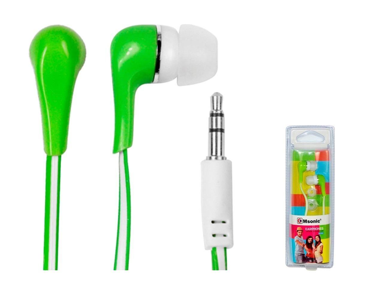 Vakoss MSONIC Słuchawki stereo douszne silikonowe MH132EE zielone