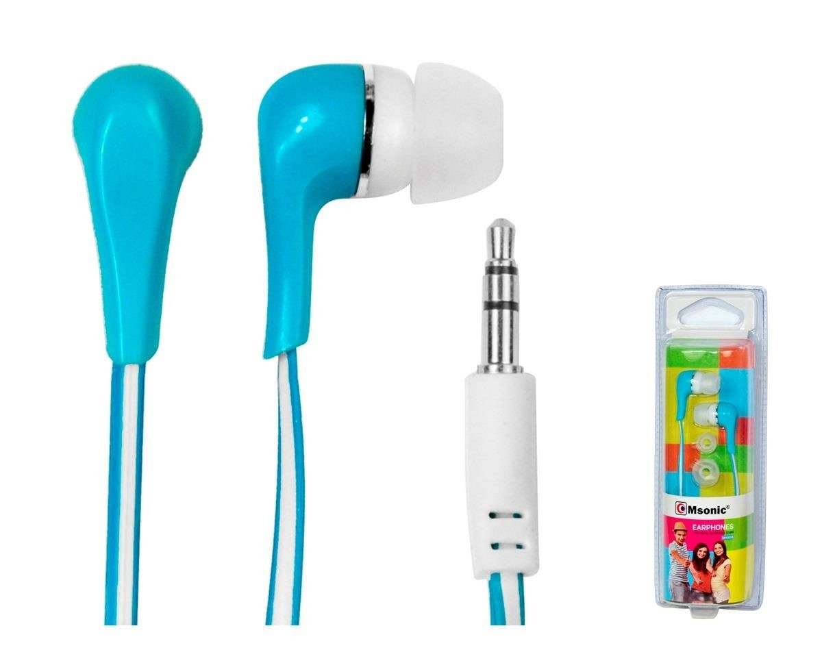 Vakoss MSONIC Słuchawki stereo douszne silikonowe MH132EB niebieskie