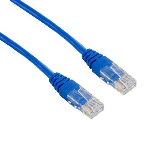 4World kabel krosowy RJ45 (osłonka zalewana, kat. 5e UTP, 1m, niebieski)
