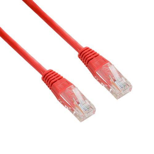 4World kabel krosowy RJ45 (bez osłonki, Cat. 5e UTP, 1.8m, czerwony, retail)
