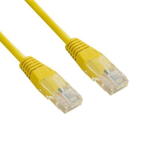 4World kabel krosowy RJ45 (bez osłonki, Cat. 5e UTP, 1.8m, żółty, retail)