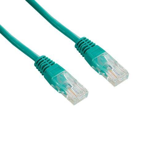 4World kabel krosowy RJ45 (osłonka zalewana, kat. 5e UTP, 15m, zielony)