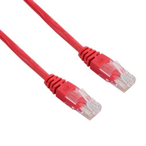 4World kabel krosowy RJ45 (osłonka zalewana, kat. 5e UTP, 3m, czerwony)