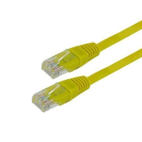 4World kabel krosowy RJ45 (osłonka zalewana, Cat. 5e UTP, 3m, żółty)