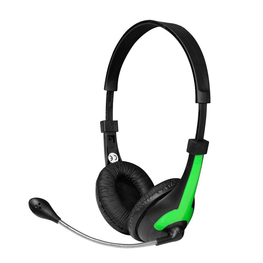 Vakoss MSONIC Słuchawki stereo z mikrofonem,regulacja głośności MH538KG czarno-zielone