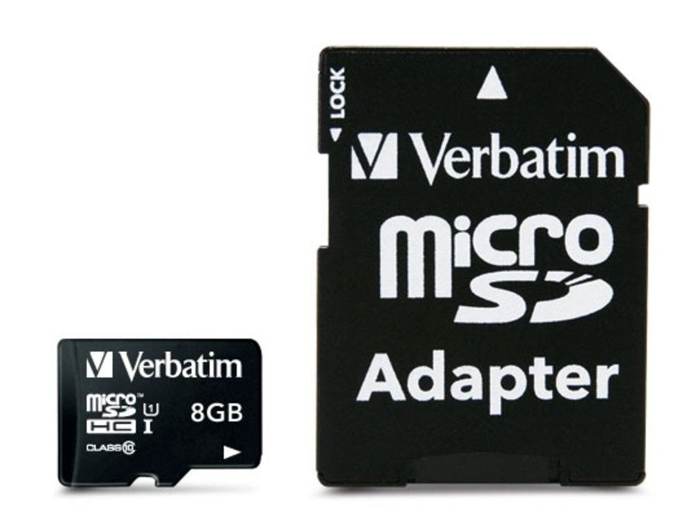 Verbatim 8GB Micro SD (HC) CLASS 10 WITH ADAPTOR