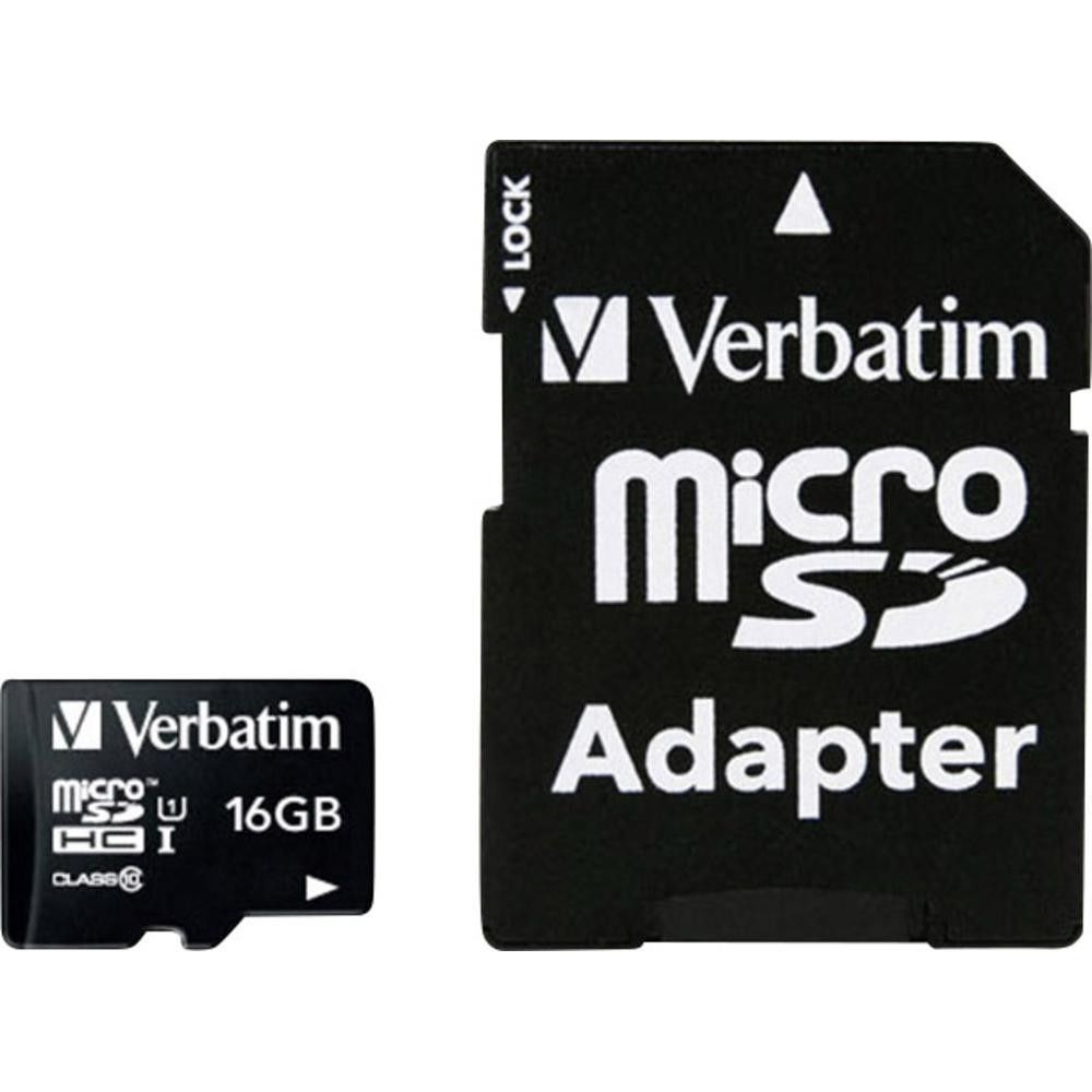 Verbatim 16GB Micro SD (HC) CLASS 10 WITH ADAPTOR