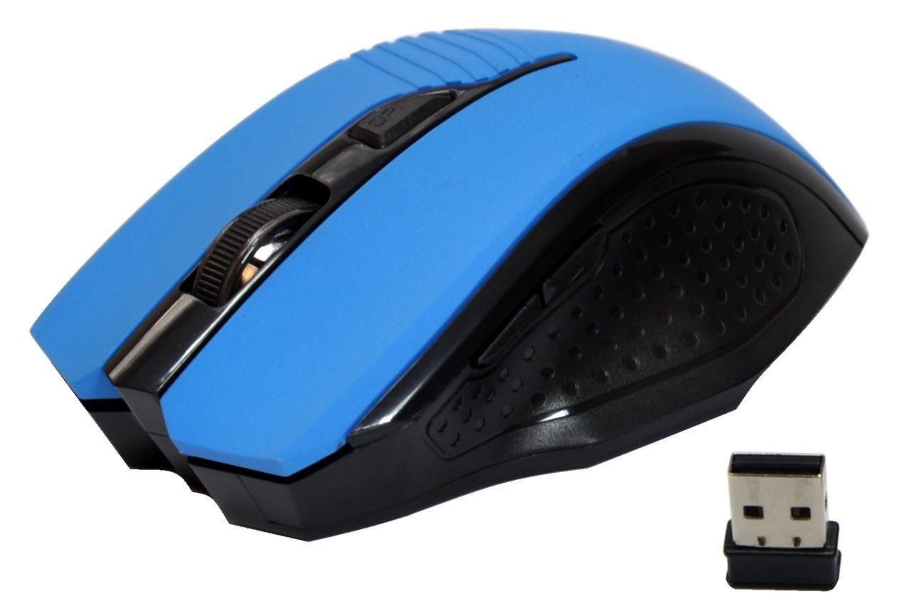 rebeltec bezprzewodowa mysz optyczna EPSILON blue