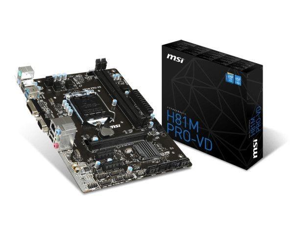 MSI H81M PRO-VD s1150 H 81 DDR3 2USB3.0 uATX