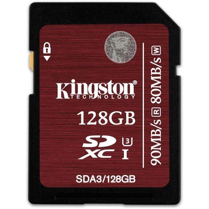 Kingston karta pamięci SDXC 128GB UHS-I Speed Class 3 Odczyt:Zapis (90/80MB/s)
