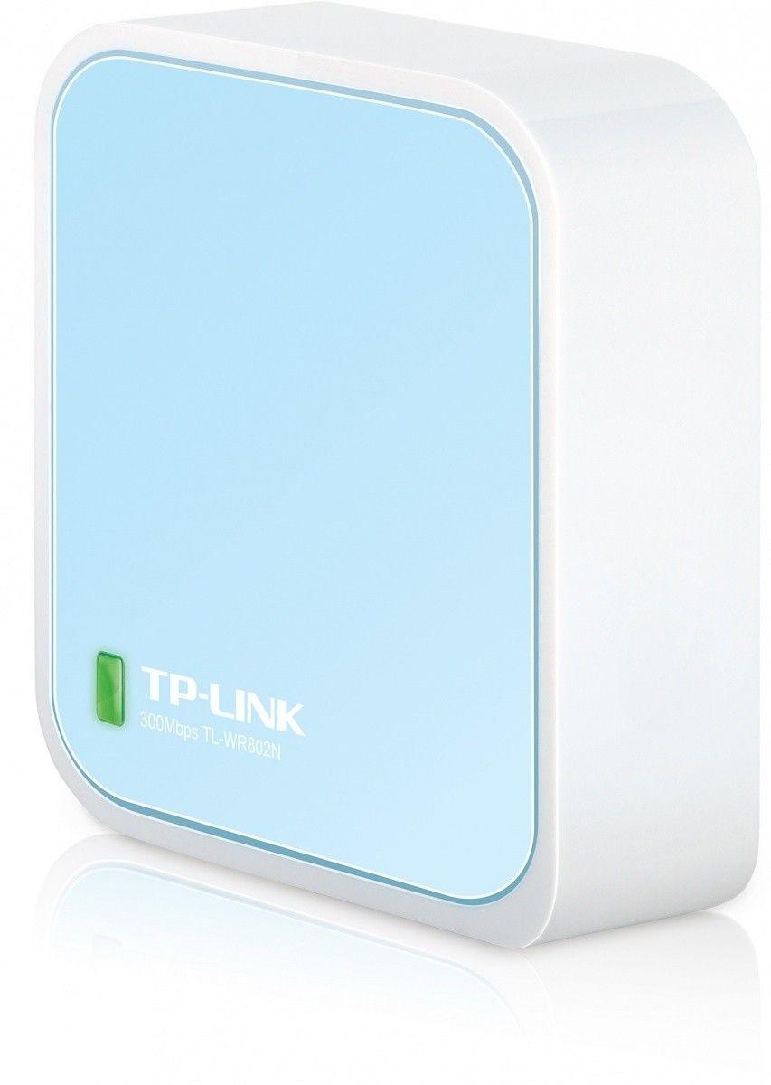 TP-Link TL-WR802N Wireless N300 Nano Router 1xWAN/LAN, 1xMicro USB