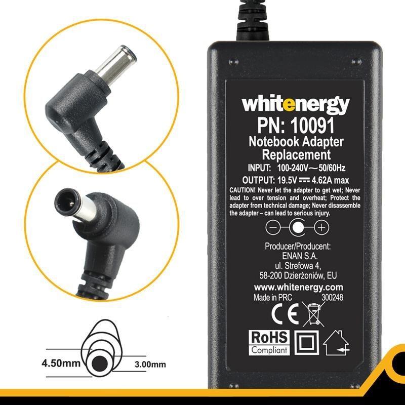 Whitenergy zasilacz 19.5V/4.62A 90W wtyczka 4.5x3.0mm